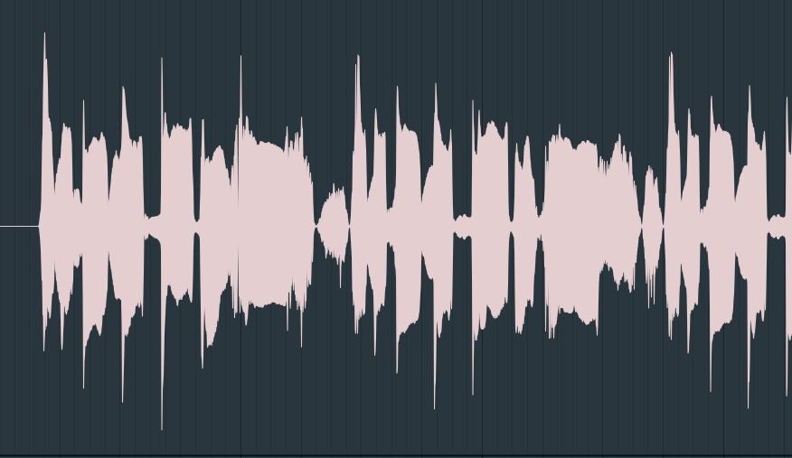 ボーカルの波形の画像