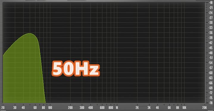 50Hzの画像