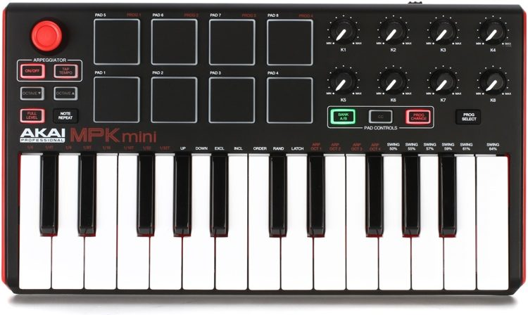 Akai MPK Mini Mk2 MIDI keyboardの画像