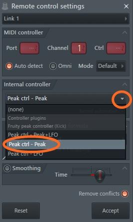 Remote control settingの画像