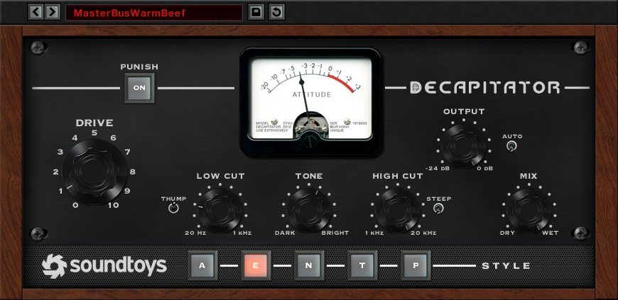 Soundtoys Decapitator Analog Saturatorの画像