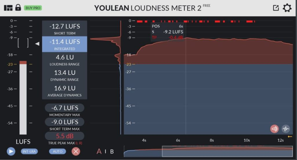 youlean loudness meter 2の画像