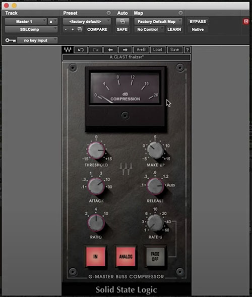 waves ssl compressor