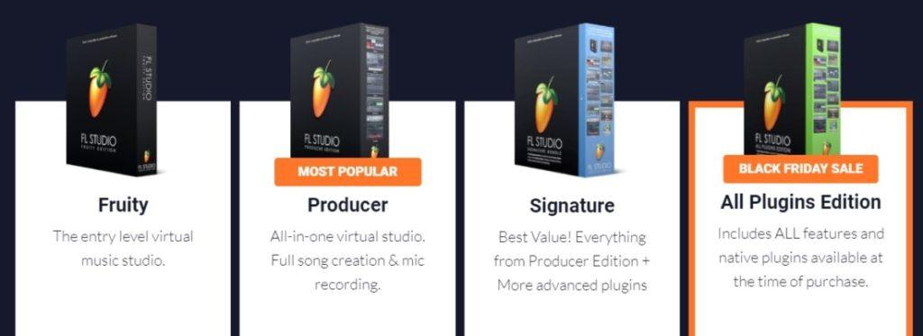 FL Studio ラインナップ