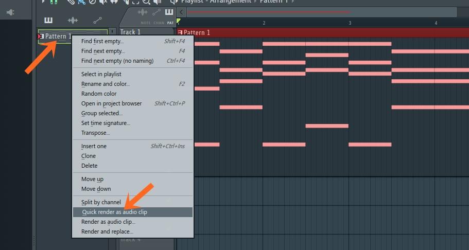 FL Studio バウンス