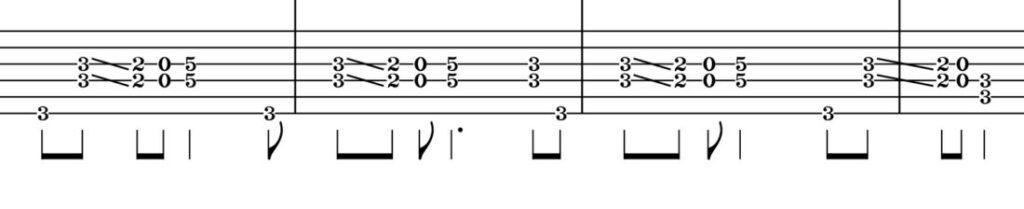 ディープパープル burn TAB譜